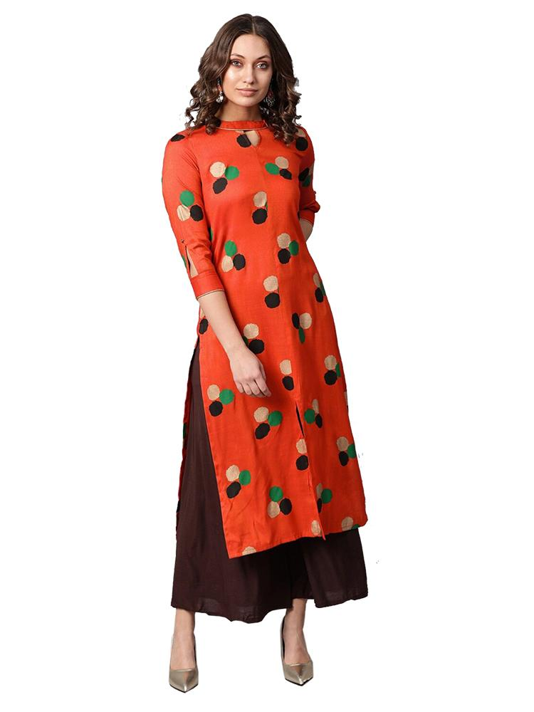 TRB Orange Long Kurti